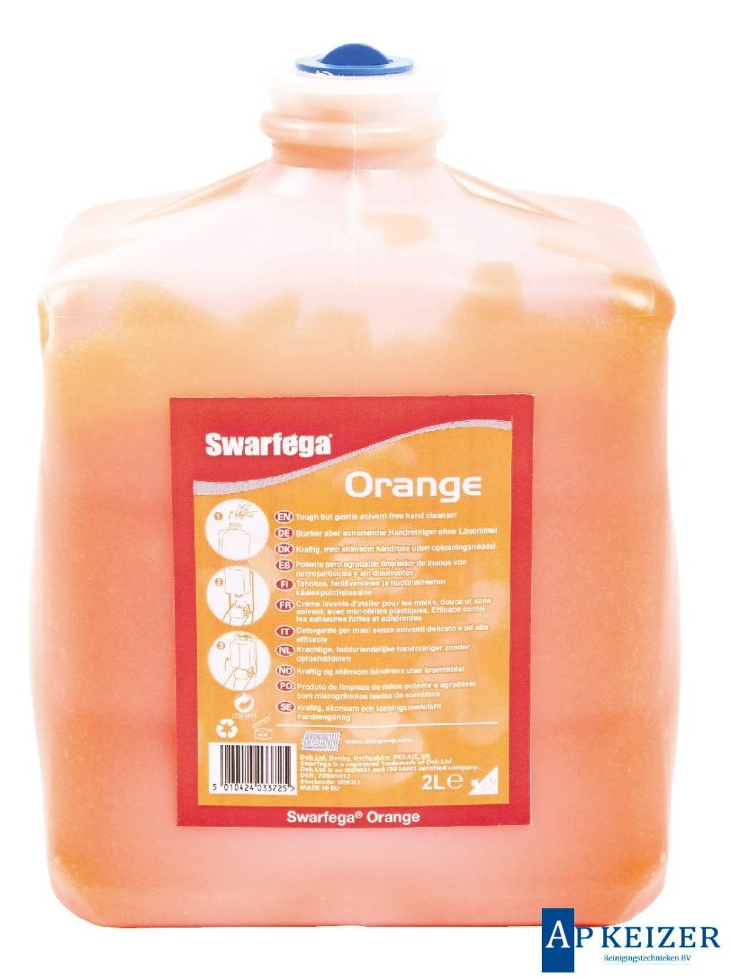 swarfega orange handcleaner met korrel 4 x 4 5 liter pot ap keizer reinigingstechnieken b v. Black Bedroom Furniture Sets. Home Design Ideas